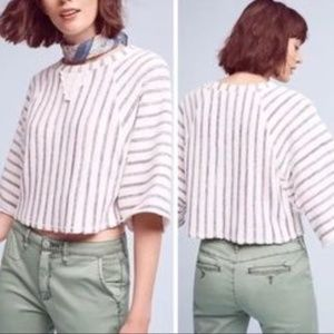 DOLAN Left Coast Anthro Cropped Sweater Striped